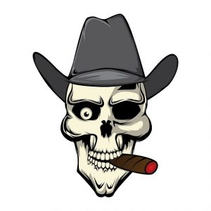 A Skull Smoking a Cannagar